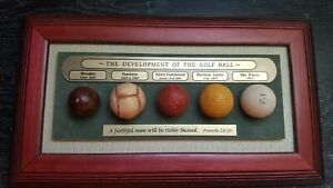 "DEVELOPMENT OF THE GOLF BALL Wall Plaque 14.5""x9"" Vintage Sign Gift for olfer"