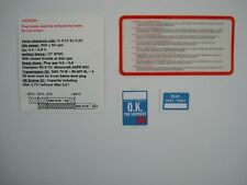 Ford Escort RS1600i under bonnet decal set best reproduction available on ebay