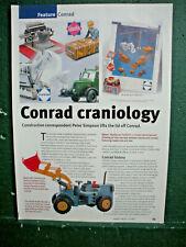 Conrad Toys Model article Construction Plant Excavators Concrete Mixer Crane 3S