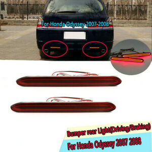 1Pair LED Rear Bumper Lights Reflector Brake Tail Lamp For 2007-08 Honda Odyssey