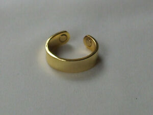Plain Magnetic Therapy Band Ring In Gold Colour Finish New