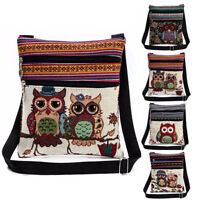 Embroidered Owl Tote Bags Women Shoulder Bag Handbags Postman Package Bags Purse