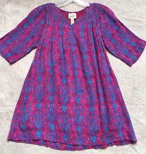 Peek Mia Dress, Girls Sz 10, Pink & Blue Paisley Pattern 3/4 Sleeves Above Knee