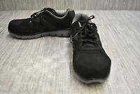 Skechers Synergy Ekron 77068 Alloy Toe Safety Sneakers, Men's Size 8, Black