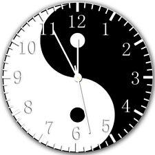 Yin Yang Frameless Borderless Wall Clock Nice For Gifts or Decor Z133
