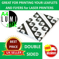 50 sheets 200 gsm A4 SILK 2 SIDED PRINTER PAPER for LASER & DIGITAL PRINTERS