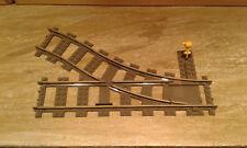 Lego City Eisenbahn Schienen Weiche rechts 9V 4531 old dark gray bricktrain