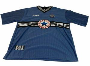Newcastle United Away Shirt Shearer 9 Mens XXL 1996 1997 Sky Blue Jersey Adidas