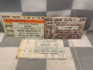 Lot of 3 Concert Ticket Stubs Incubus Hinder Dropkick Murphys St Louis Shows