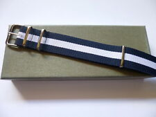 22mm Navy Nato Watch Strap -  OTAN Band - EU Shipping