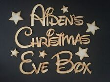 """Personalised """"Christmas Eve Box"""" Star Topper, Craft Sign, Plaque."""