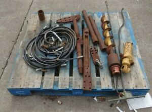 Lot of Misc. Vermeer Thread Drilling Parts Tools Bits Hose
