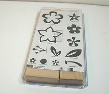 Stampin Up Island Blossoms Rubber Stamps Boxed Set NIB