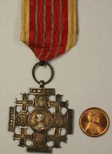 Pope Leo X111 Pilgramage to Jerusalem Silver Vatican Medal Original Ribbon
