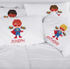 Personalized Super Hero Kids Character Pillowcase