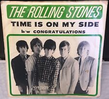 Rolling Stones VINTAGE 1964 ' TIME IS ON MY SIDE ' U.S. PICTURE SLEEVE & 45 VG+