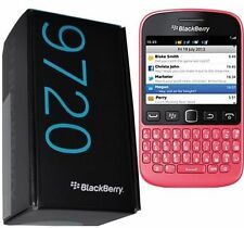 BNIB BLACKBERRY 9720 PINK BUNDLE UNLOCKED QWERTY NEW SIMFREE with black housing