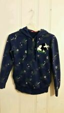 MICKEY MOUSE HOODIE BLUE LONG SLEEVE GRAPHIC WOMEN'S MEDIUM