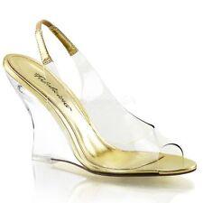 Damen-Sandalen & -Badeschuhe im Knöchel-/Fesselriemen-Stil aus Synthetik ohne Muster für Sehr hoher Absatz (Größer als 8 cm)