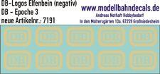 10 H0 Decals DB Logo 4,7 x 3,5 mm elfenbein, negativ, Keks Decals 087-7191