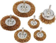 6 Piezas Secador Rueda De Alambre & Esponja para Vasos Juego De Brocas 6mm para