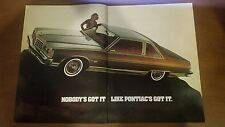 "1977 Pontiac Bonneville Original Magazine Ad ""Nobody's got it like Pontiac's..."""