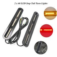 2x60-LED Car Truck DRL Light Bar Brake Flowing Turn Signal Stop Tail Strip Lamps
