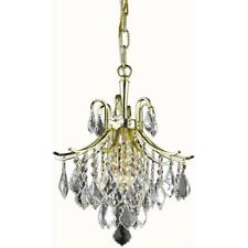Living District Amelia 3 Light Pendant, Gold - LD8100D12G