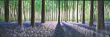 ART PAINTING landscape woods  forest trees COMMISSION  240cm x 80cm