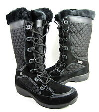 KAMIK WOMEN'S GEORGETOWN SNOW BOOT BLACK SYNTHETIC US SIZE 9 MEDIUM (B)M