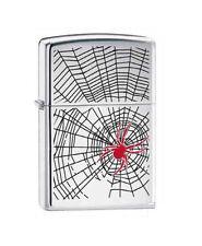 "Zippo ""Spider in Web"" Chrome Lighter, 6338 +Wick +Flints"