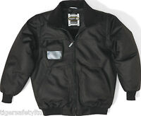 Delta Plus Panoply Reno Black Mens Bomber Jacket Coat Security Bouncers Doorman