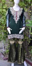 Pakistani Indian Designer Party Wear Jamawar Gharara Pant M, L,XL
