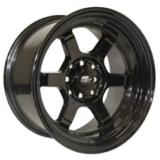 MST Time Attack Rim 17X9 5x114.3 Offset 20 Black (Quantity of 4)