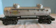 Vintage Lionel 0 - O27 Gauge Oil Sunoco Grey Tank Train Car