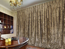 Large Thick Velvet Curtains Stunning Flocking 600x270cm+30 Hooks+4m blockout New