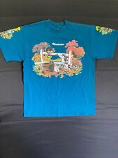 Vintage 90s Mendocino T Shirt Made In Usa Cats 80s Single Stitch Double Sided