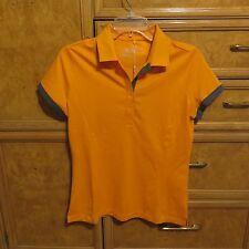 Women's Nike golf shirt short sleeve orange gray trim size M brand new NWT $60