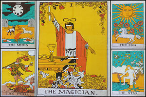Tarot Card Small Poster Indian Cotton Lot Of 5 Pcs Tapestry Wholesale Price Art