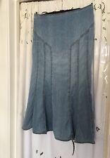 Marks And Spencer Denim Maxi Skirt Size 12 Festival Boho Hippie