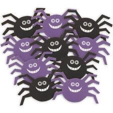 10 embrujada Halloween Fiesta Mini 12cm Negro Púrpura Arañas recortes Decoraciones