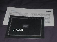 New Listingrare Franklin Mint Solid Silver Lincoln Automobile Company Logo/Emblem Ingot