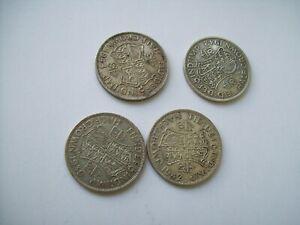 Four George VI silver half crowns