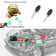 12V Wireless Remote Car Battery Disconnect Cut Off Switch 2 Remote Control Kit