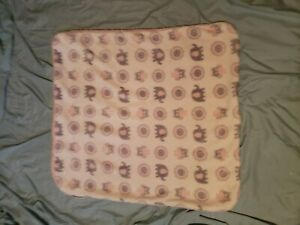 Blankets and Beyond Pink Gray Elephant Owl  Sherpa Baby Blanket