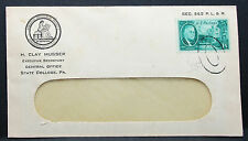 Us ADV cover Musser American Philatelic Society roosevelt Stamp EE. UU. carta h-7410