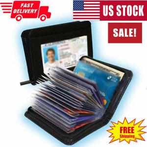 Lock Slim Wallet Secure Men Women RFID Blocking Money Credit Card Holder Wallets