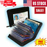 Lock Slim Wallet Secure Men Women RFID Blocking Money Credit Card Holder Wallets