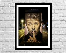 David Bowie Wall Decor Art Print | Bowie Graffiti | Manchester Wall Art