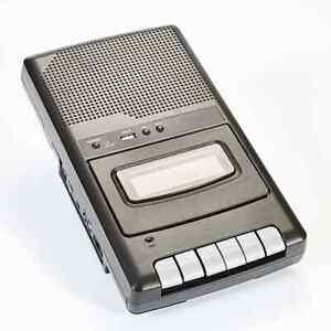 Kassettenrekorder Recorder Kassettendeck Diktier Gerät Nostalgie USB Tragbar